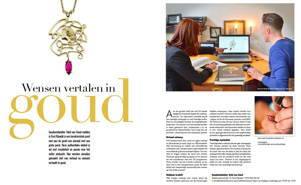 2015 Leven! Interview Wensen vertalen in Goud Foto.
